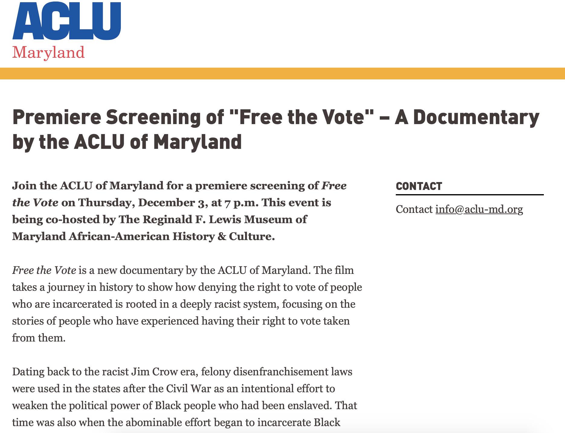Check out Free the Vote Documentary from MCS Alumna Amber Taylor!