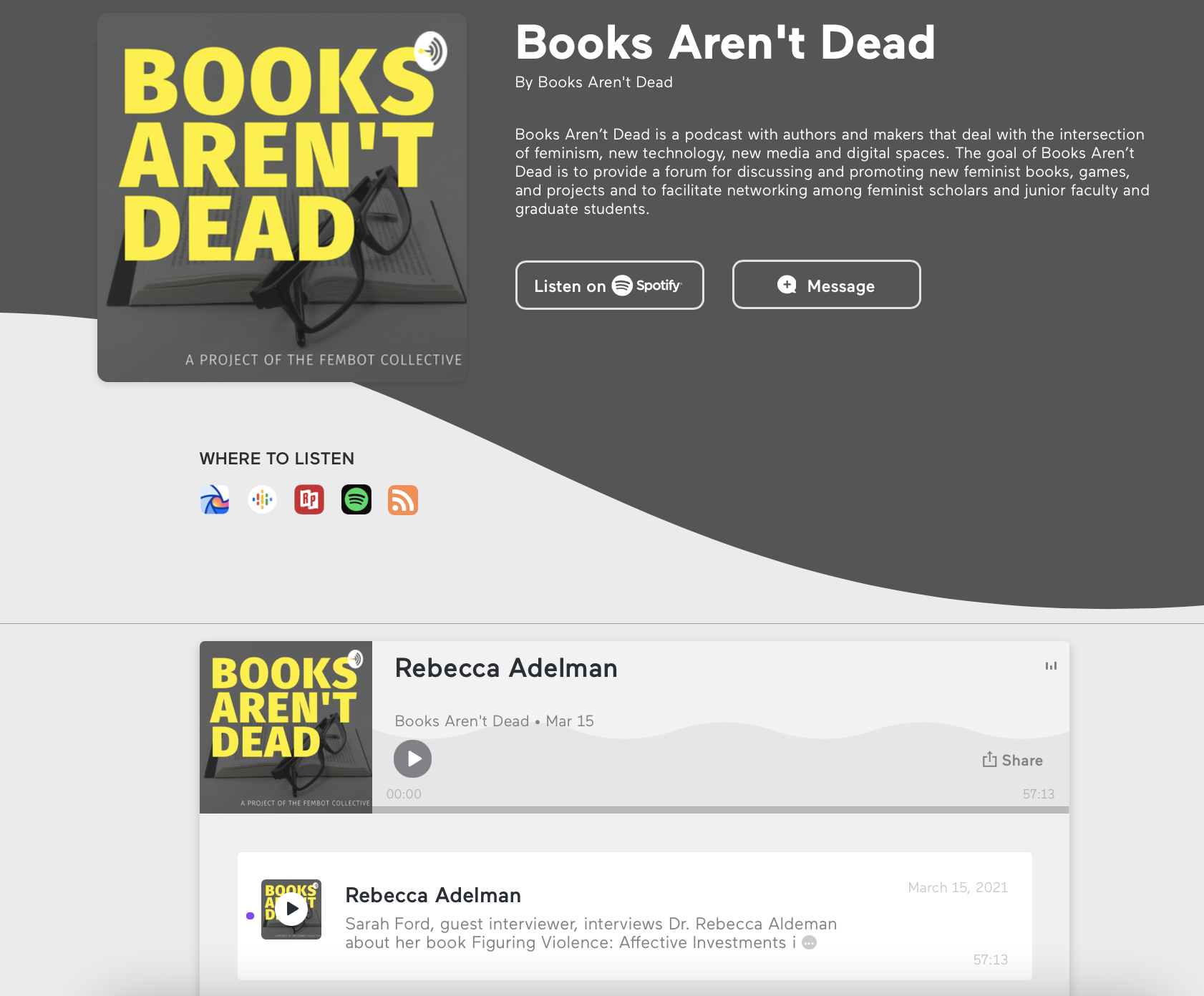 "Hear Prof. Adelman's interview on the ""Books Aren't Dead"" podcast!"