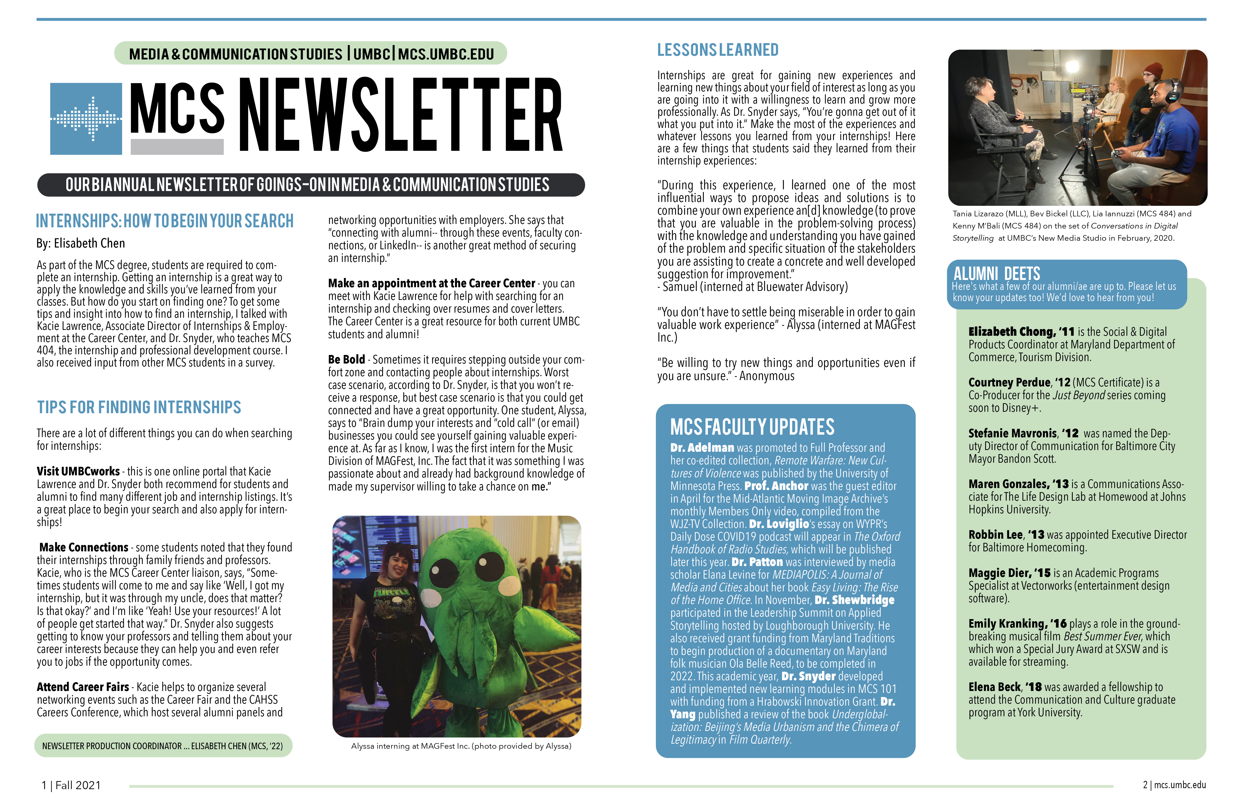 Check out the MCS Newsletter!